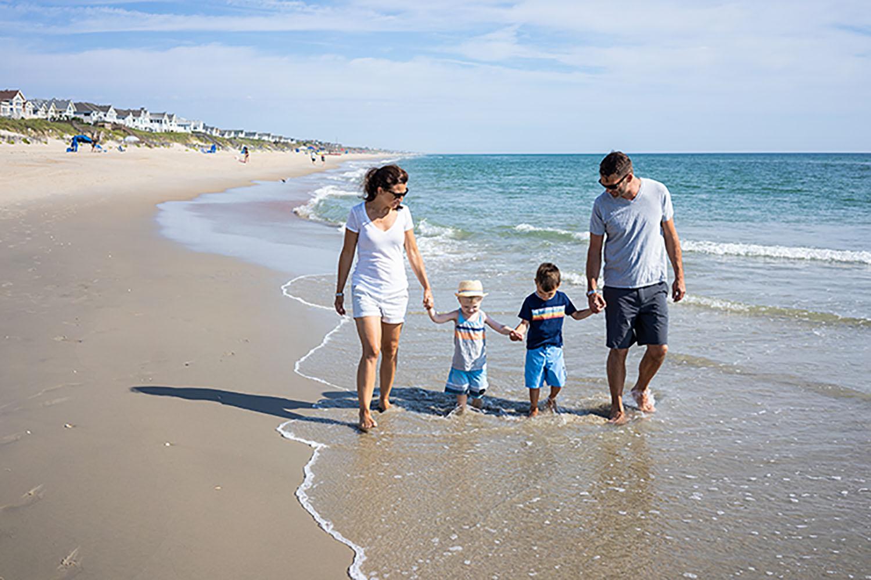 Corolla Family Beach Walk